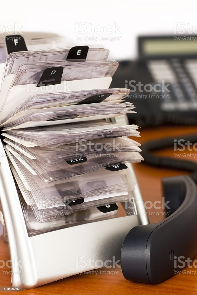 Phone and rotary card royalty-free stock photo