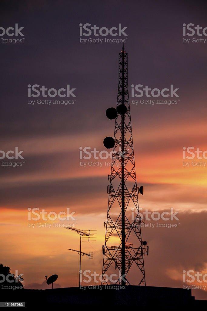 Phone antenna stock photo