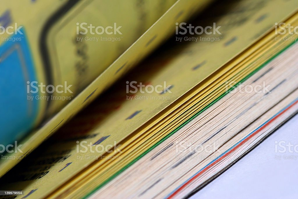 Phone Book Pages Turning stock photo