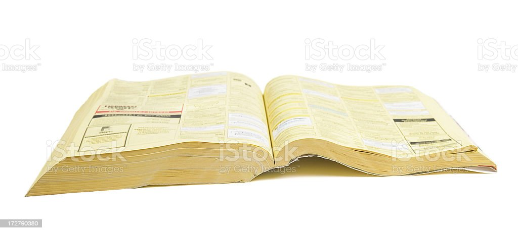 phone book stock photo