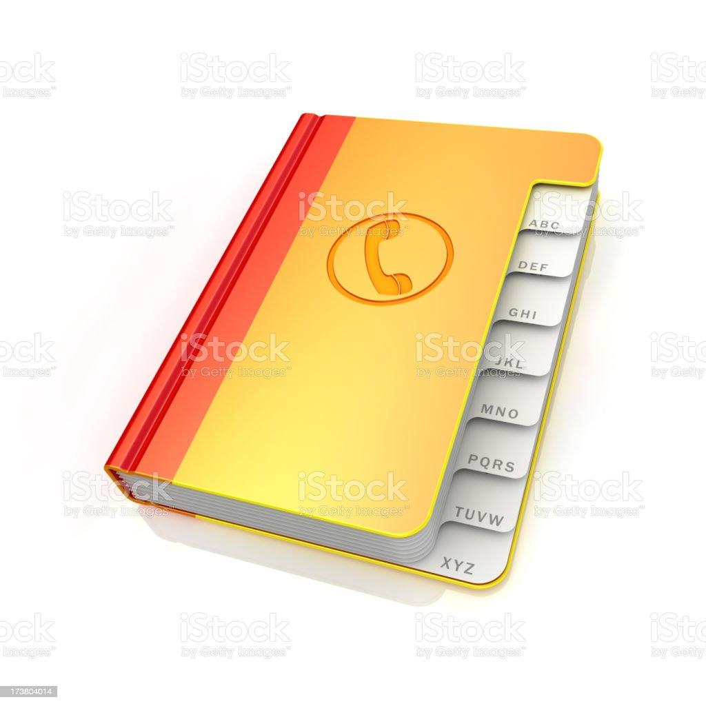 Phone book royalty-free stock photo