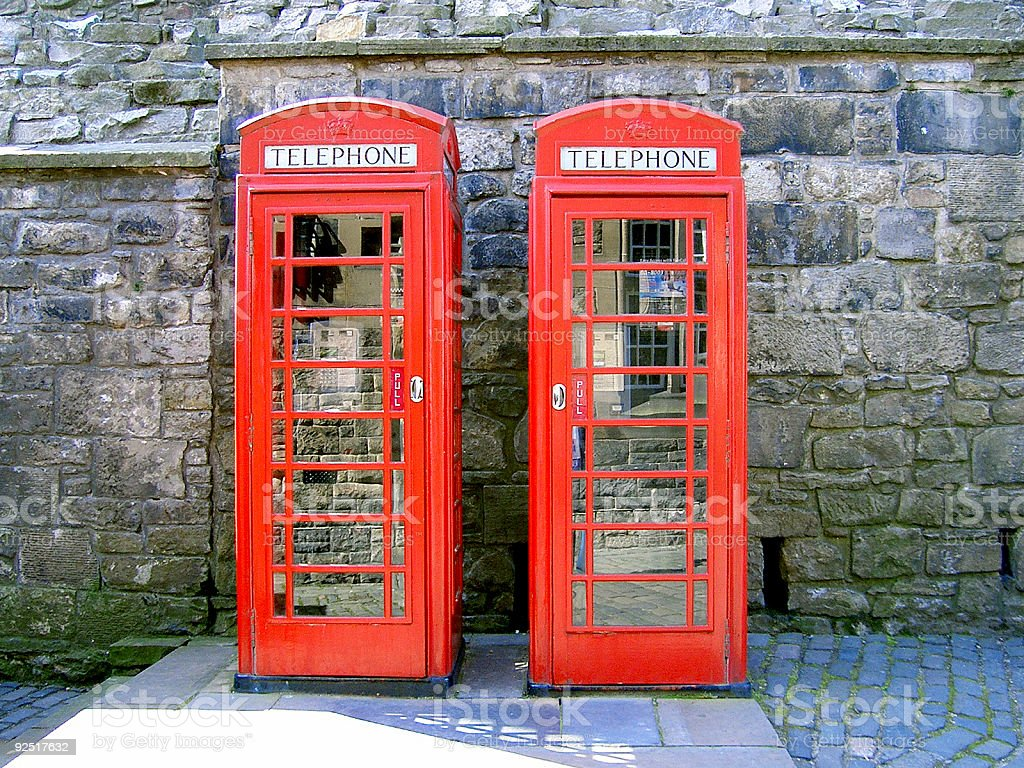 Phone booths royalty-free stock photo