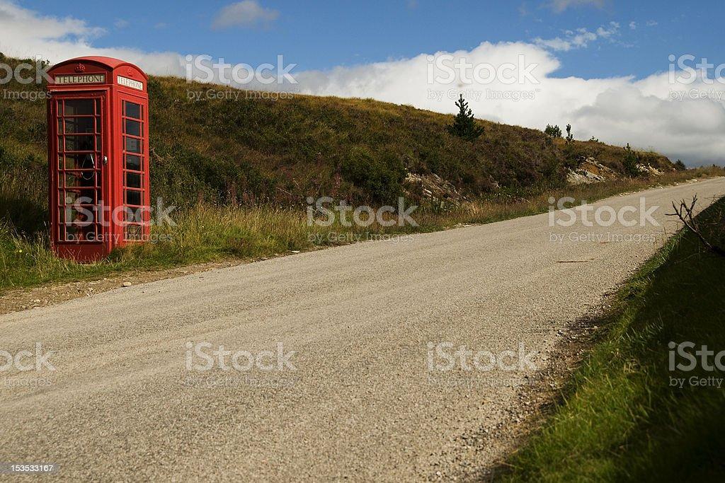 phone box in Scottland stock photo