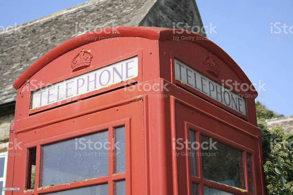 Phone Box in the Countryside stock photo