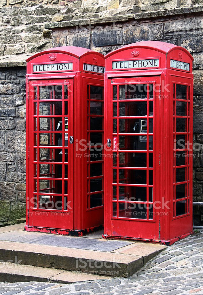 Phone boxes royalty-free stock photo