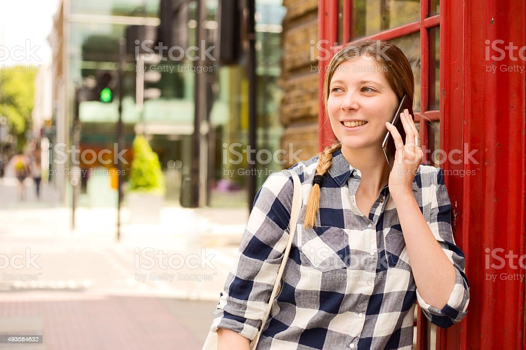 phone call in London royalty-free stock photo