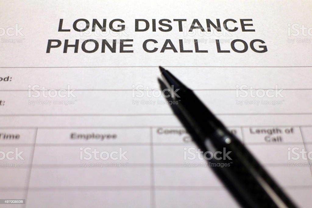 Phone Call Log stock photo