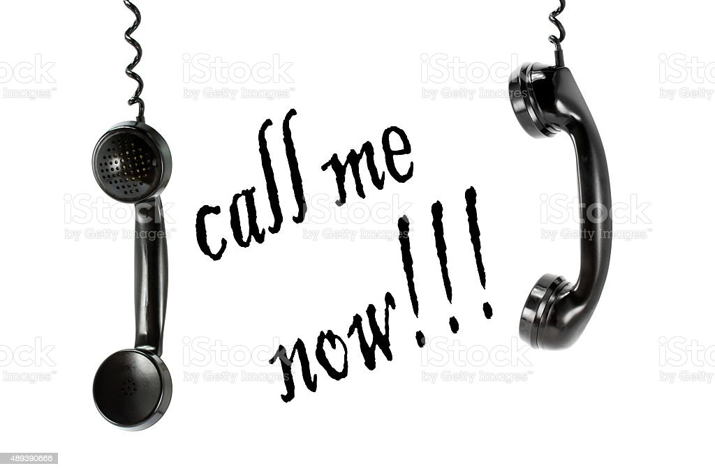 Phone call me now isolated royalty-free stock photo