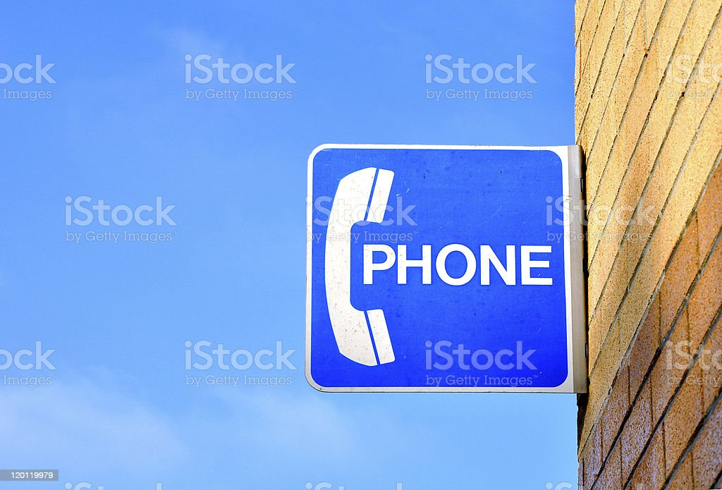 phone call sign royalty-free stock photo
