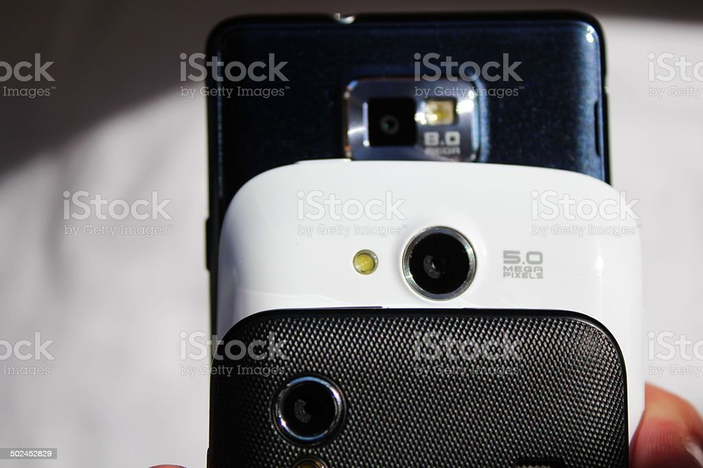 Phone cameras stock photo