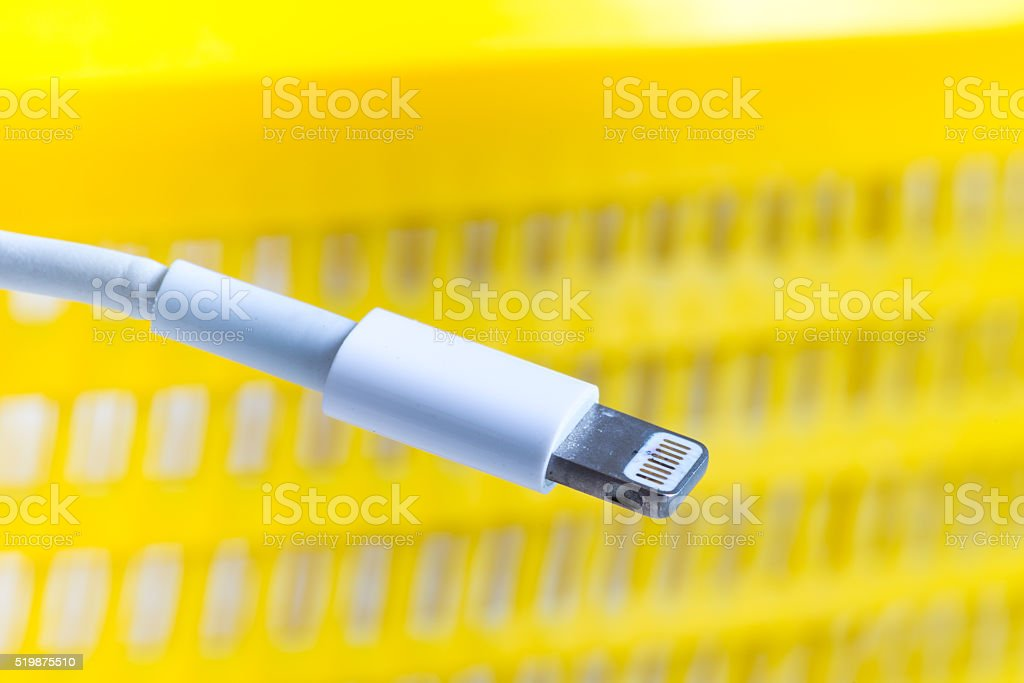 phone charge connect wire cable stock photo