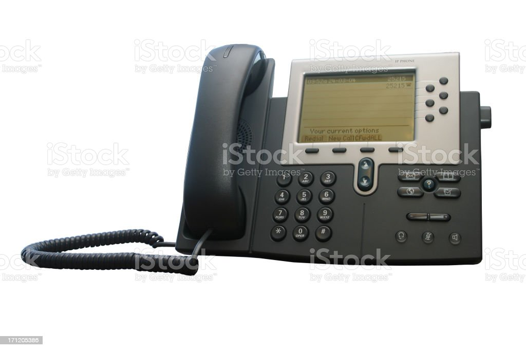 IP Phone - Clipped royalty-free stock photo