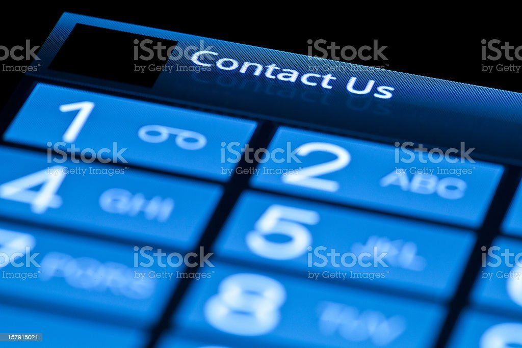 Phone Contact Us royalty-free stock photo