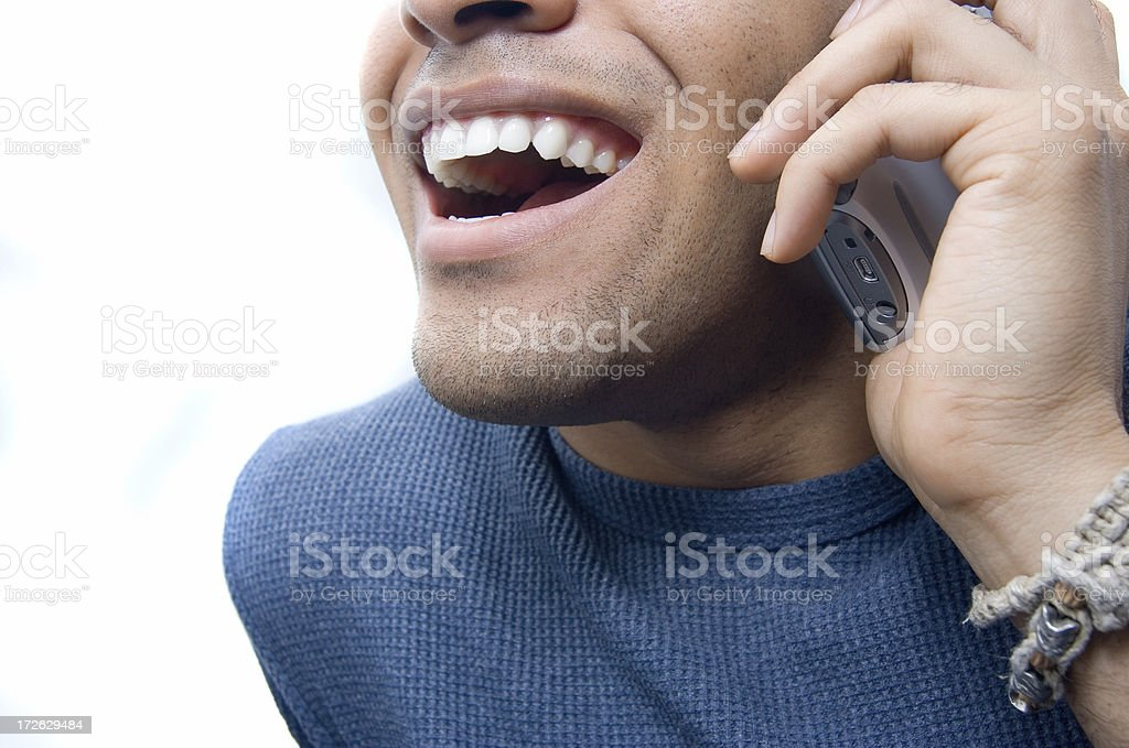 Phone Conversation royalty-free stock photo
