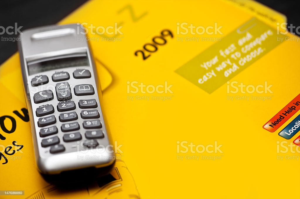 Phone Directory stock photo