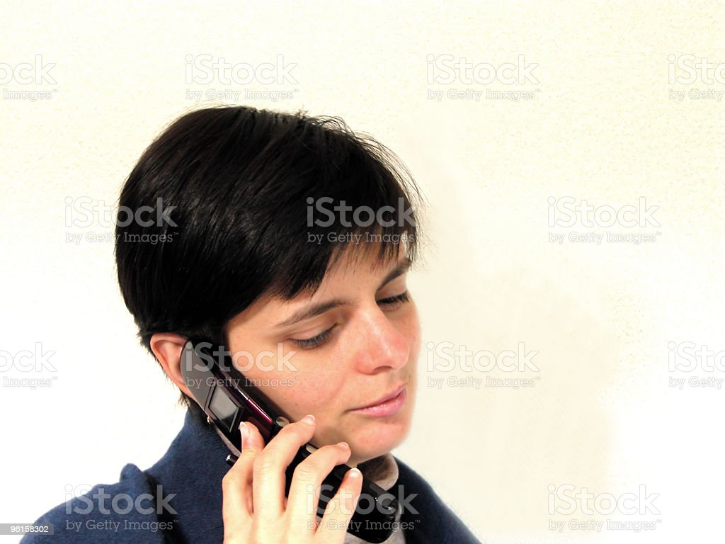 Phone Discussion royalty-free stock photo