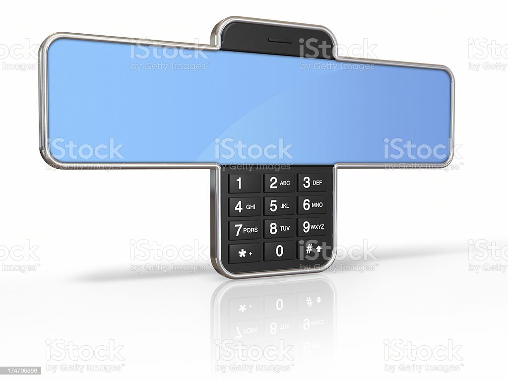 Phone display royalty-free stock photo
