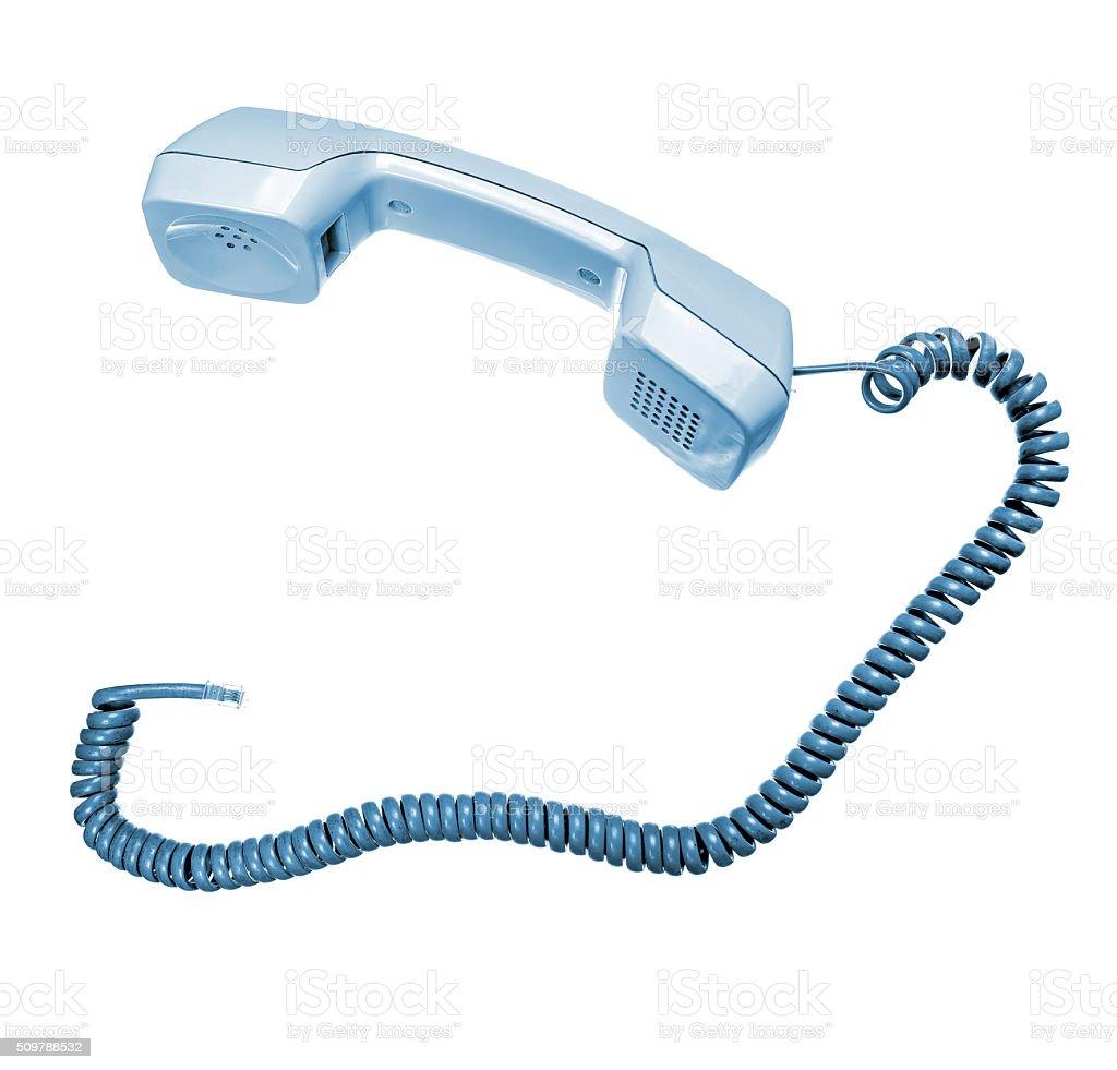 Phone hook isolated on white stock photo
