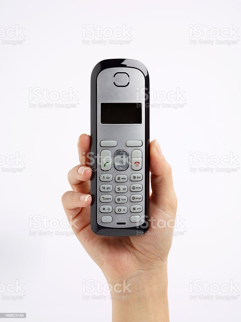 Phone In Woman's Hand royalty-free stock photo