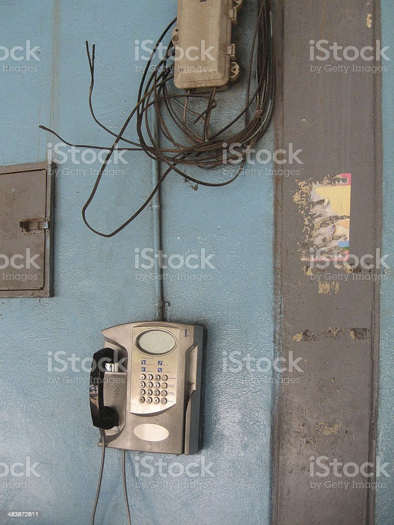 Phone is still working royalty-free stock photo