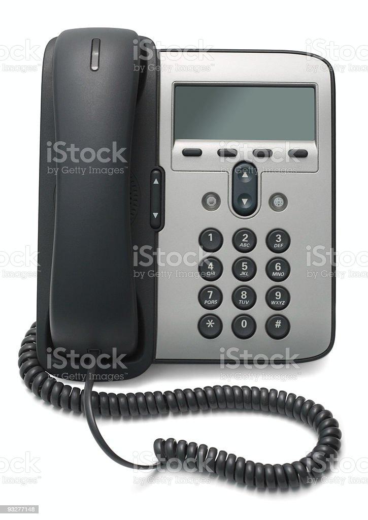 IP Phone isolated on white background stock photo