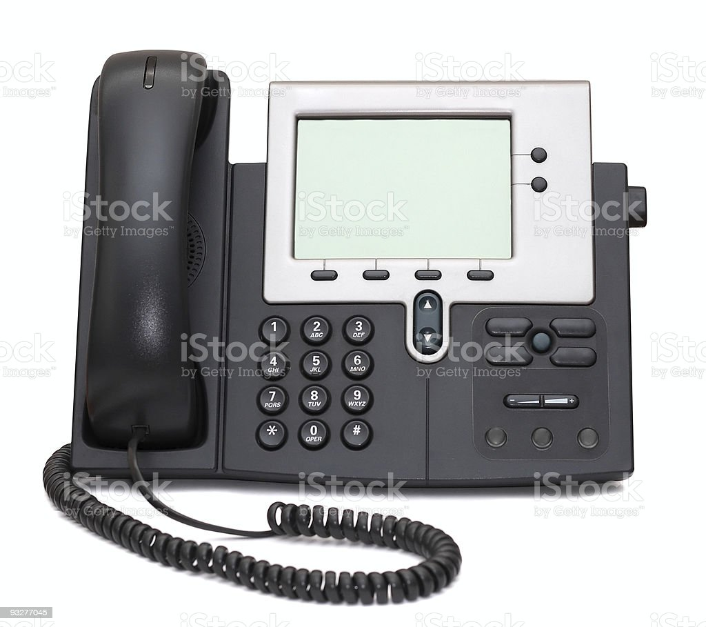 IP Phone isolated on white royalty-free stock photo