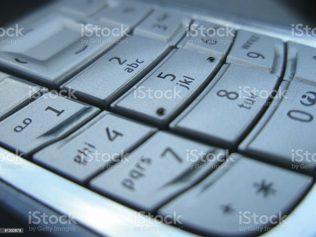 Phone key pad royalty-free stock photo