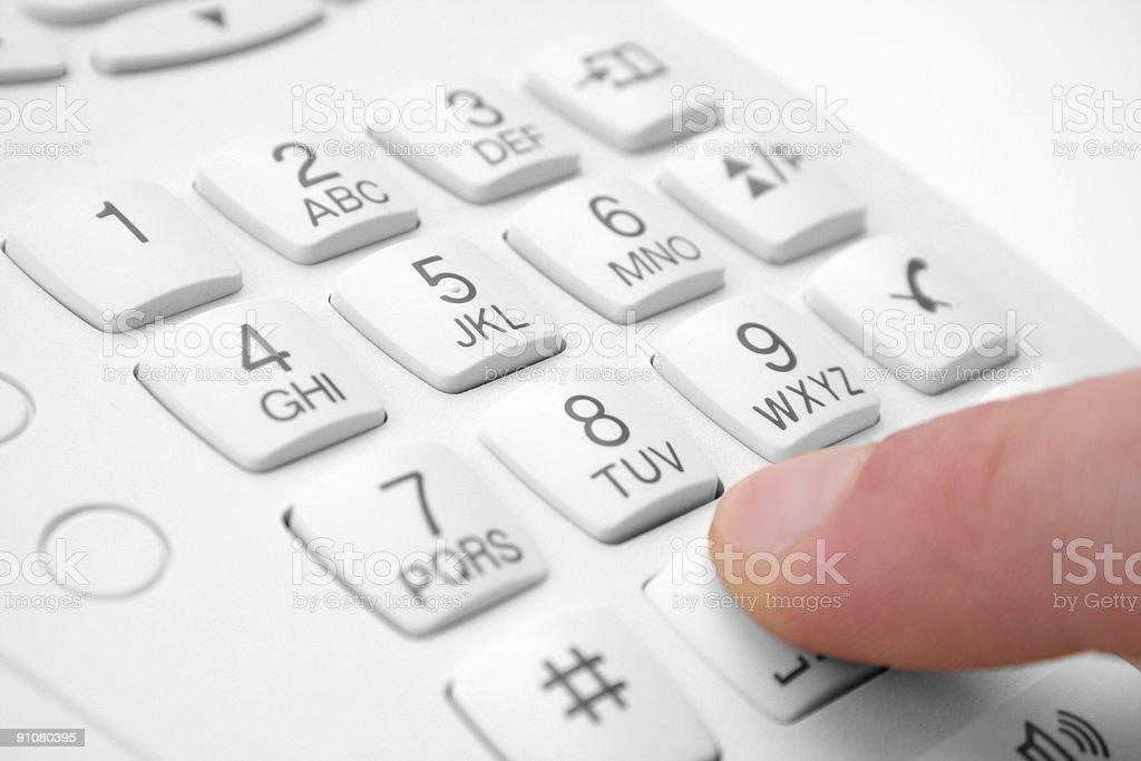 phone keypad stock photo