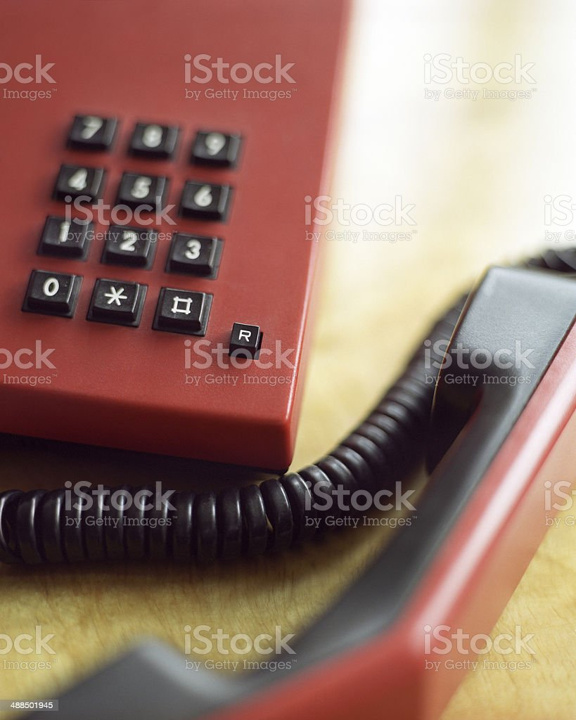 Phone Off The Hook stock photo