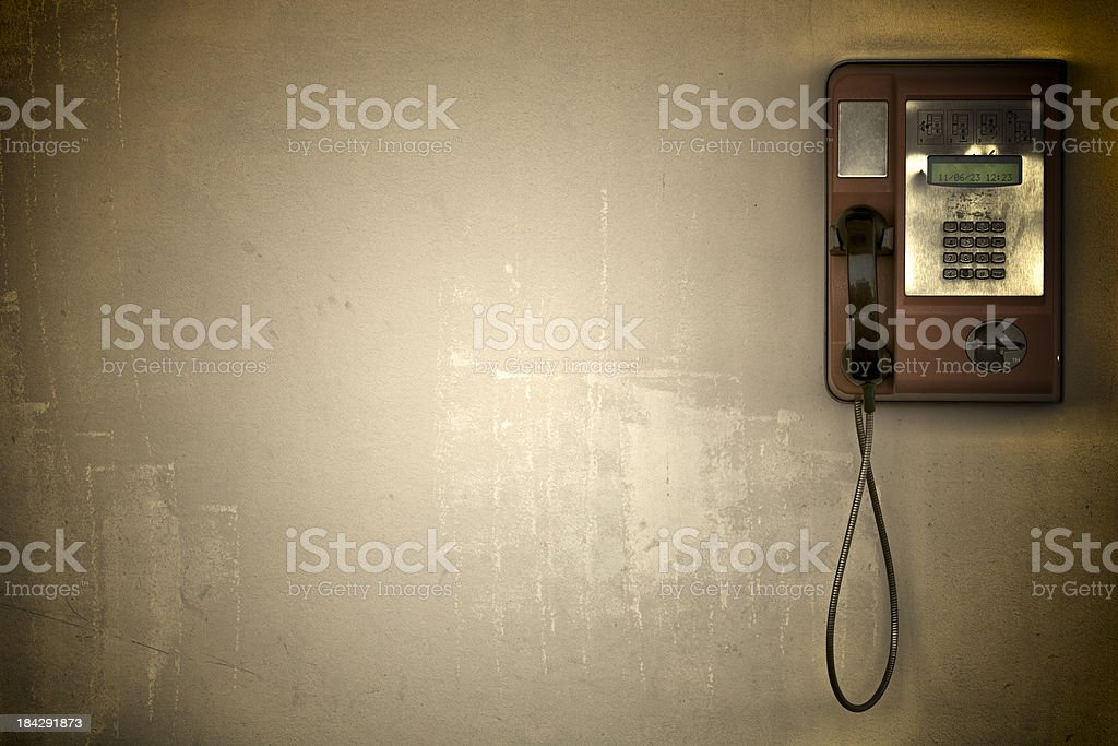 Phone on Blank Wall royalty-free stock photo
