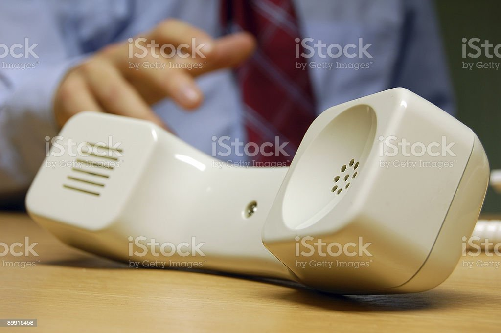Phone On Hold royalty-free stock photo