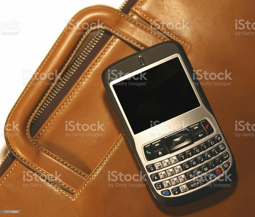 phone on suitcase.. royalty-free stock photo