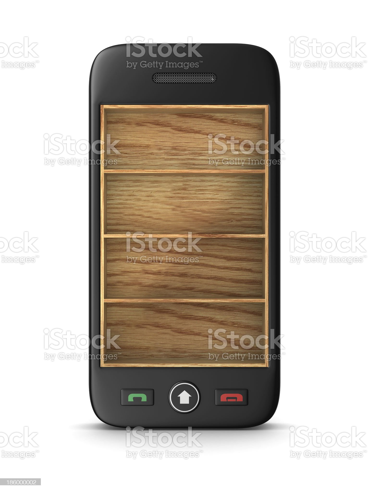 phone on white background. Isolated 3D image royalty-free stock photo