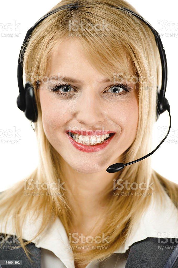Phone operator royalty-free stock photo