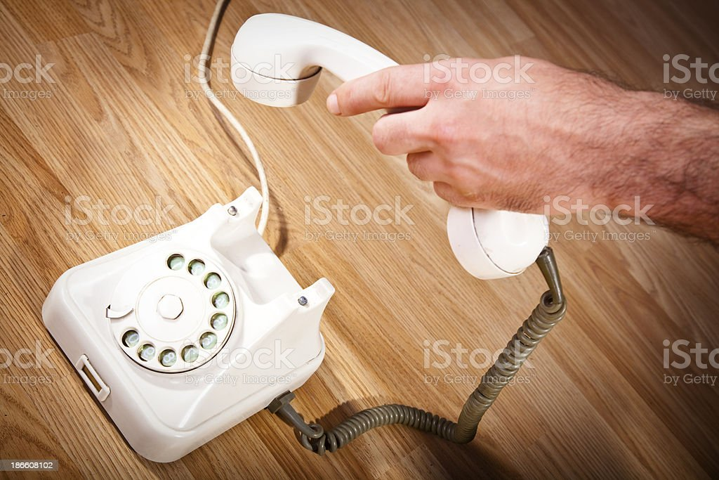 Phone pick up royalty-free stock photo
