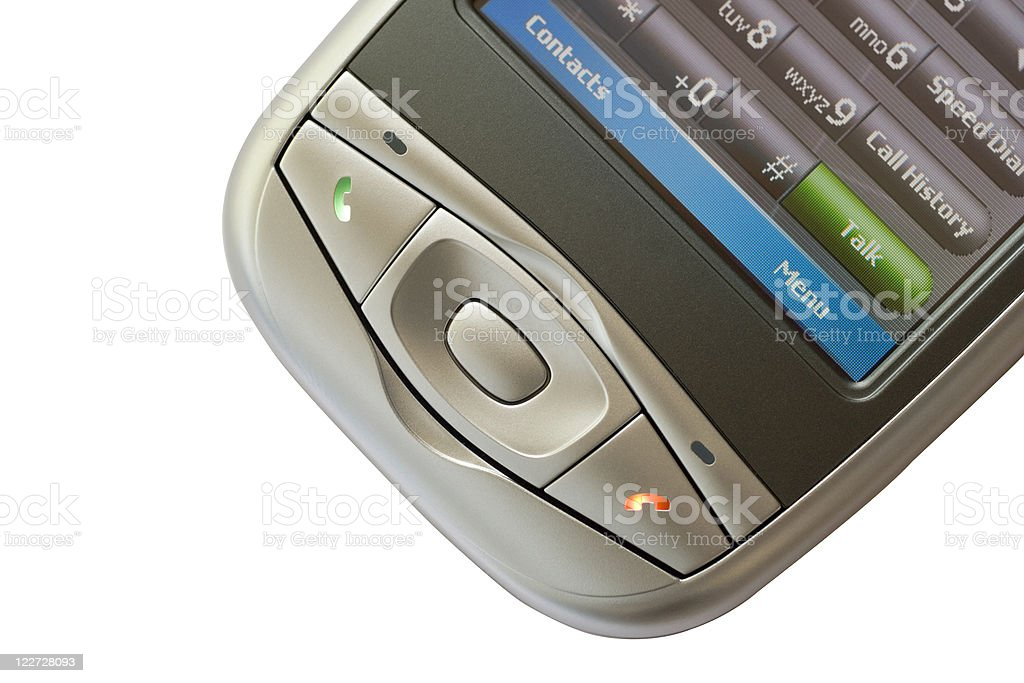 PDA Phone (with clipping path) royalty-free stock photo