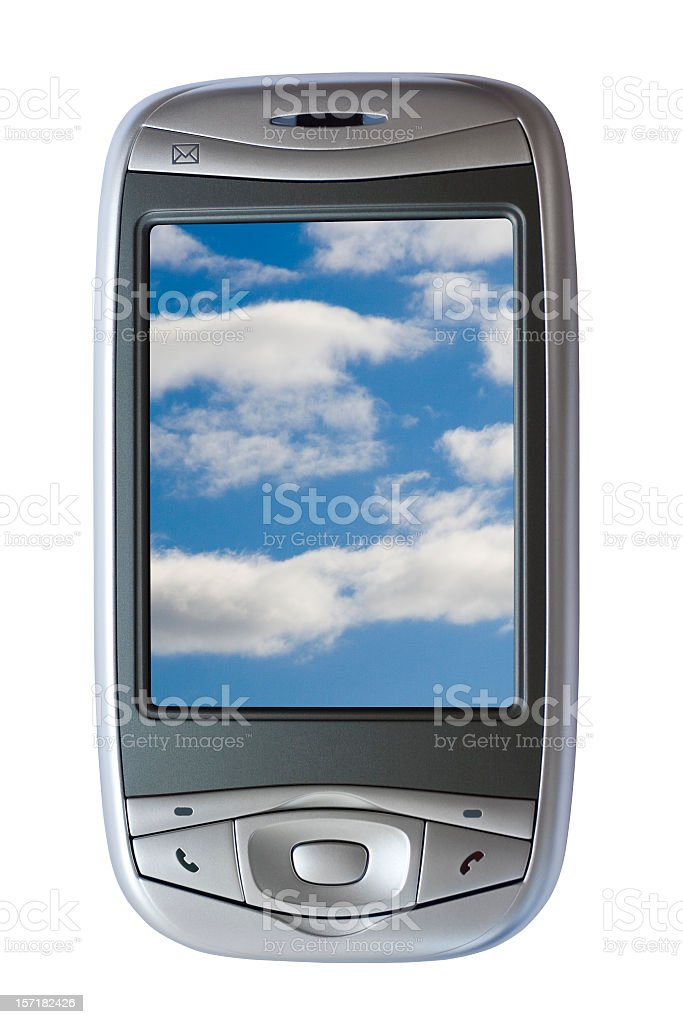 PDA Phone (with 2 clipping paths) royalty-free stock photo