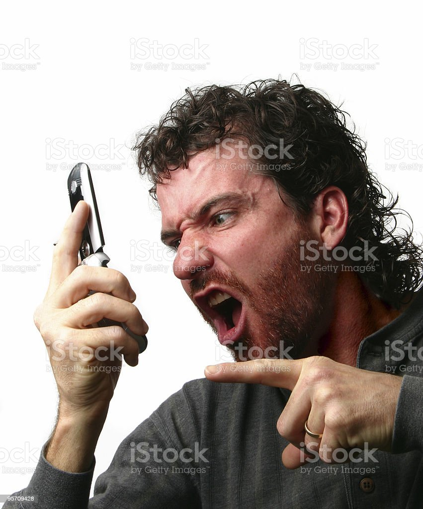 phone rage stock photo