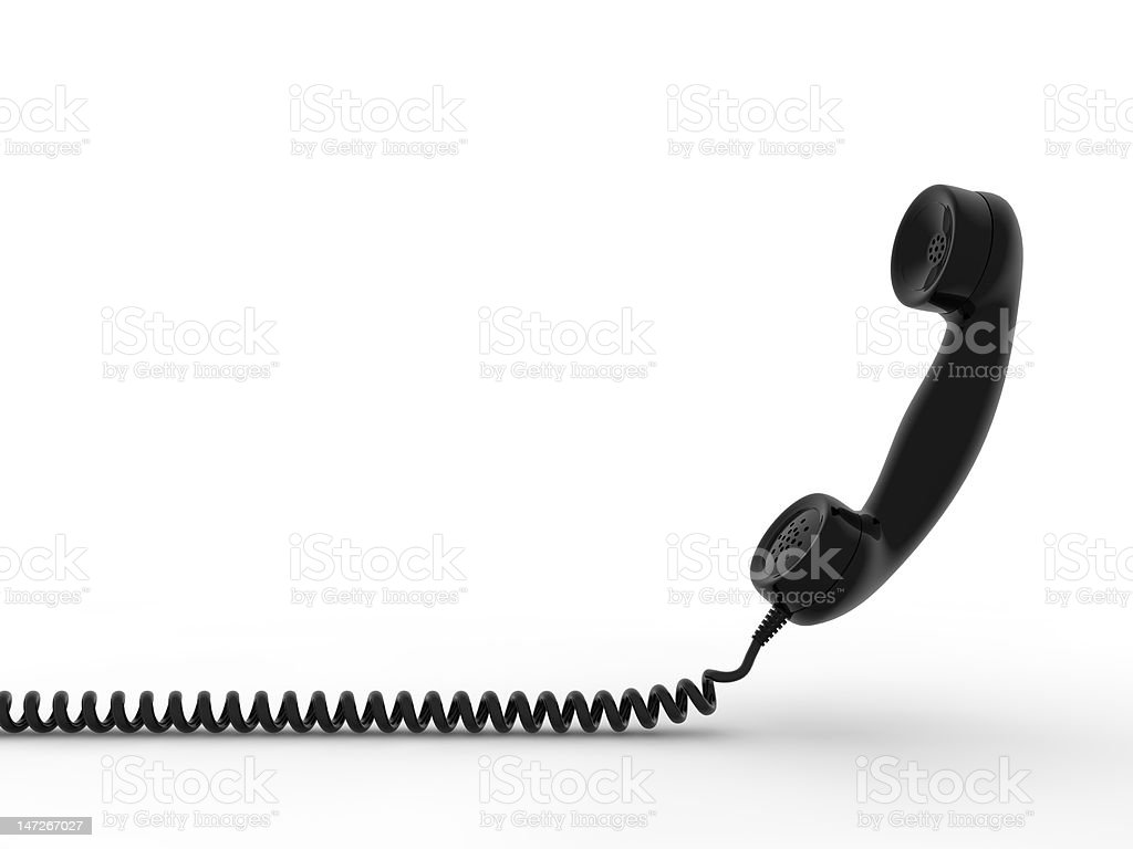 Phone receiver stock photo