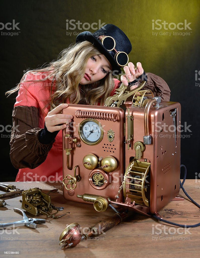 Phone repair. royalty-free stock photo
