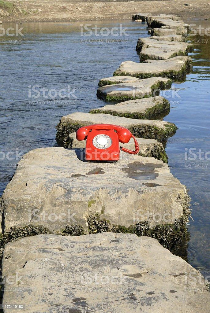 phone steps royalty-free stock photo
