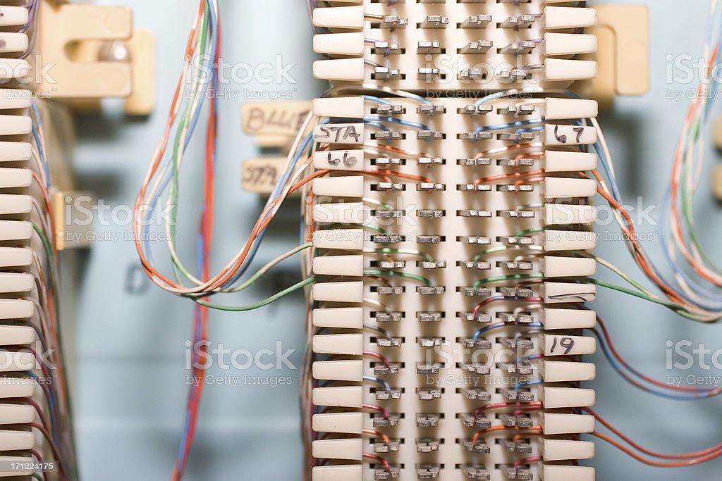 Phone system wiring stock photo
