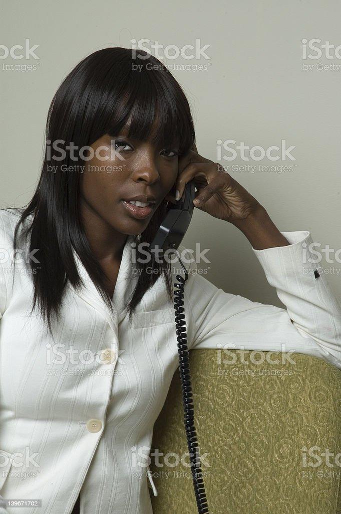 Phone talk stock photo