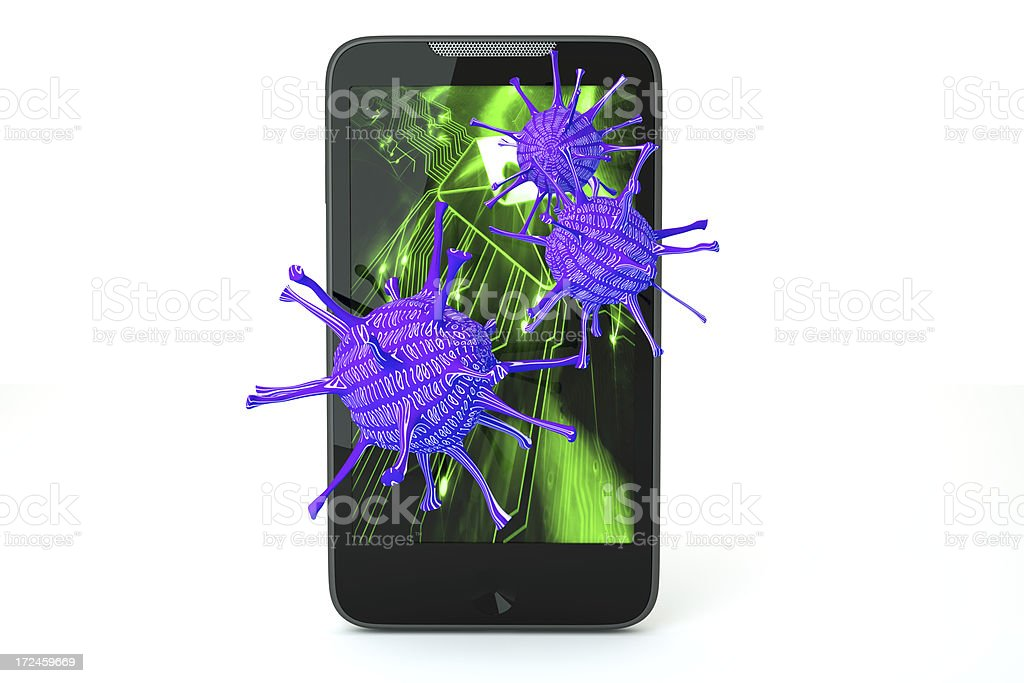 Phone virus royalty-free stock photo