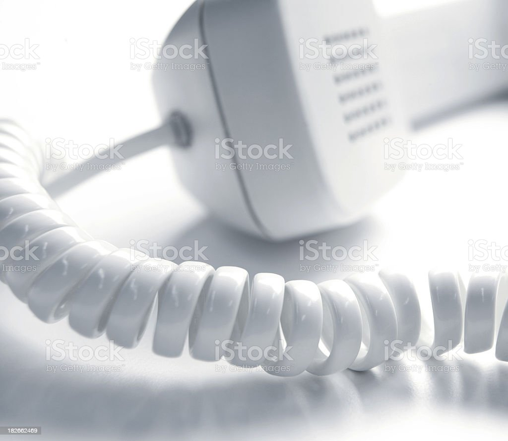 Phone with cord royalty-free stock photo