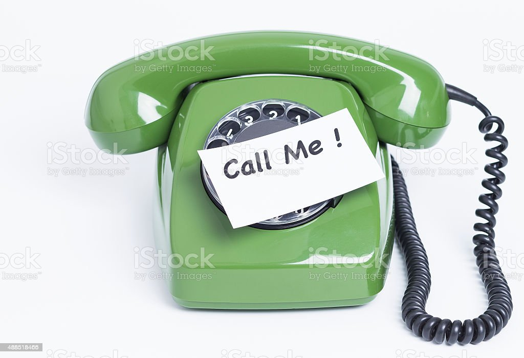 Phone with note Call me stock photo