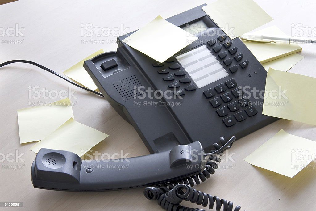 Phone with postits royalty-free stock photo