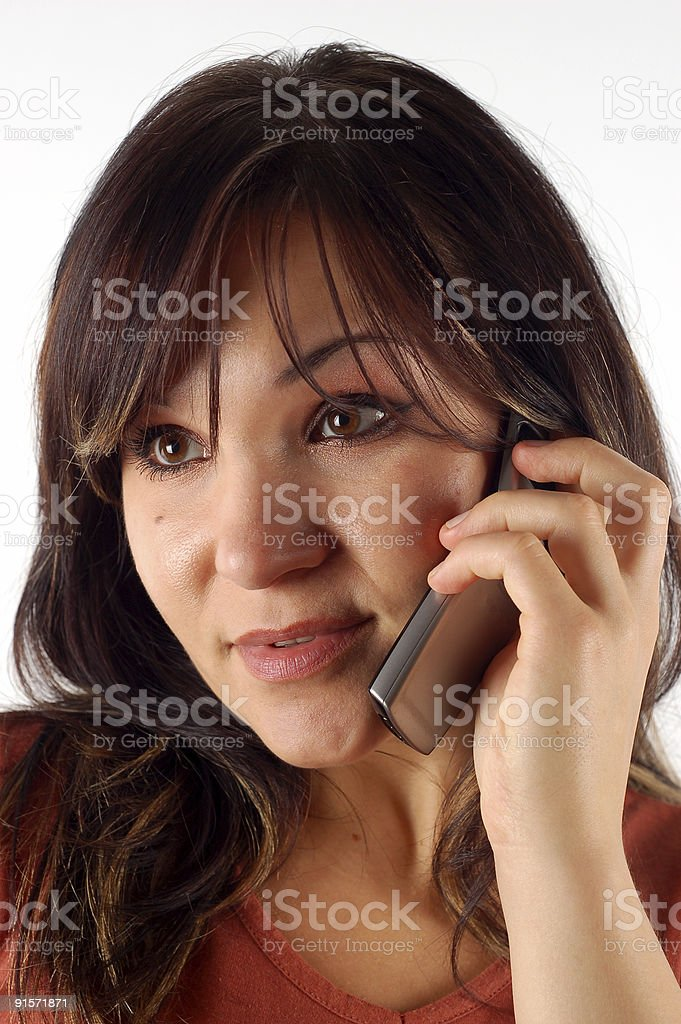 phone woman #11 royalty-free stock photo