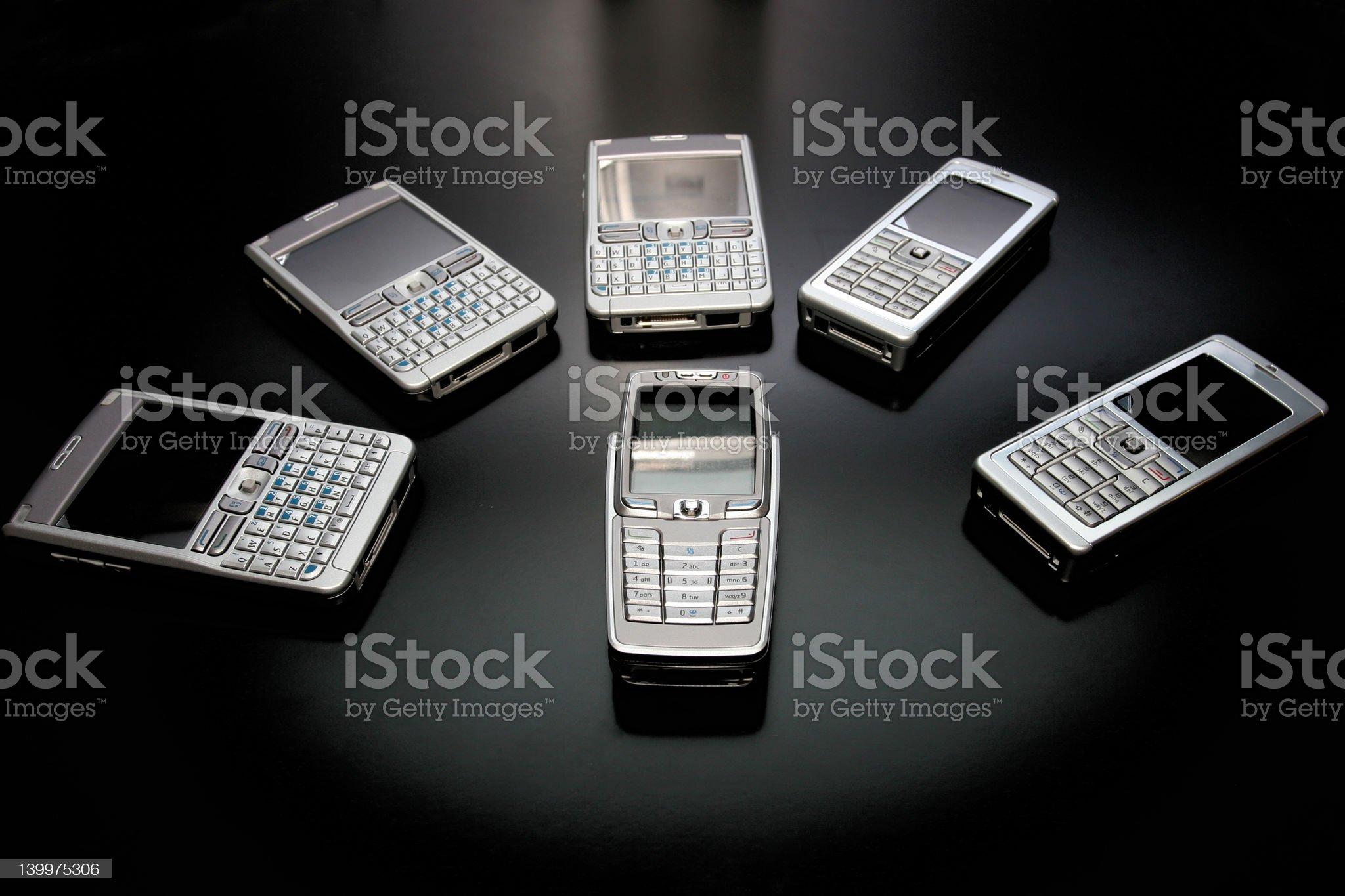 Phones royalty-free stock photo