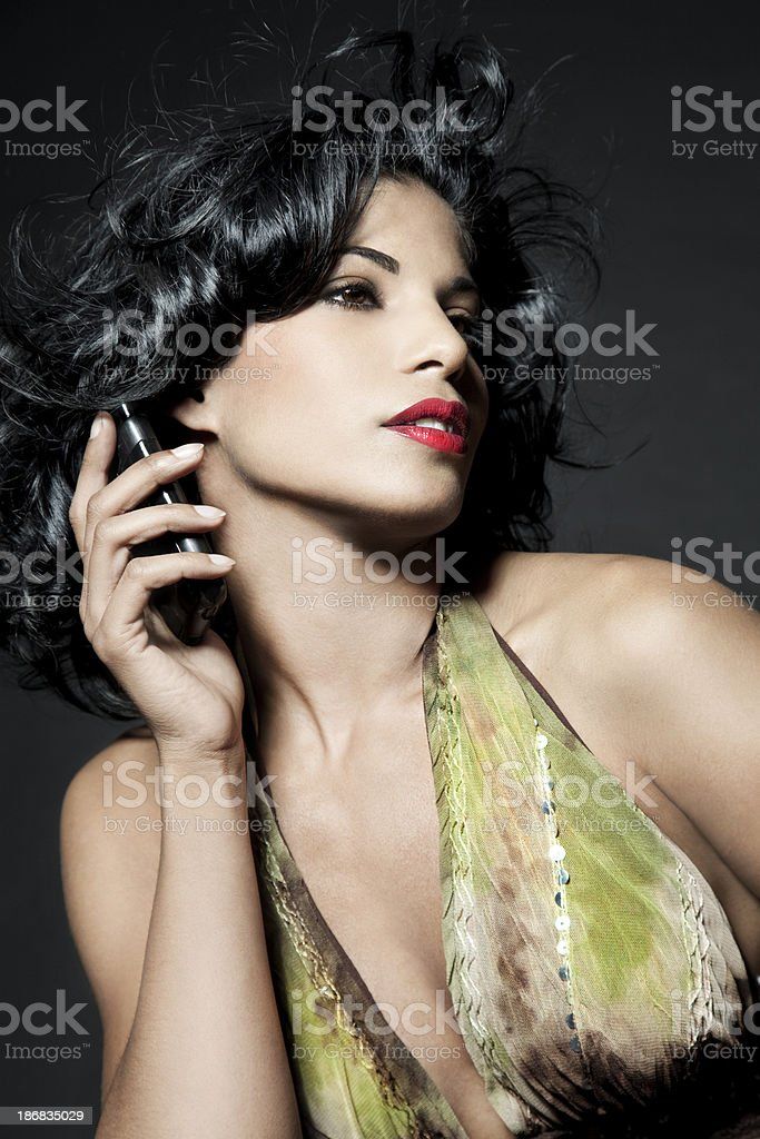 Phoning Beauty stock photo
